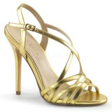 Gold 13 cm Pleaser AMUSE-13 high heeled sandals