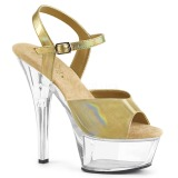 Gold 15 cm KISS-209BHG Platform High Heels Shoes