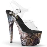Gold 18 cm ADORE-708SP Hologram platform high heels shoes