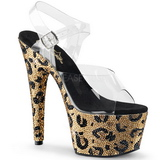 Gold 18 cm BEJEWELED-708LP Womens Shoes with Glittering Stones