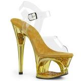 Gold 18 cm MOON-708GFT glitter platform sandals shoes
