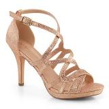 Gold 9,5 cm DAPHNE-42 High Heeled Stiletto Sandals