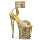 Gold Glitter 20 cm Pleaser FLAMINGO-891LG High Heels Platform