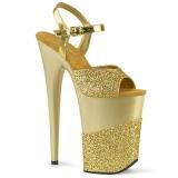 Gold Glitter 23 cm INFINITY-909-2G High Heels Platform