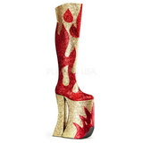 Gold Glitter 28 cm SPLASHY-3020 Thigh High Boots for Drag Queen