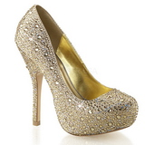 Gold Glittering Stones 13,5 cm FELICITY-20 Womens High Heels Shoes