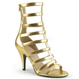 Gold Leatherette 10 cm DREAM-438 big size ankle boots womens