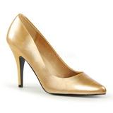 Gold Matte 10 cm VANITY-420 pointed toe pumps high heels