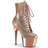 Gold Metallic 18 cm ADORE-1020 Exotic pole dance ankle boots