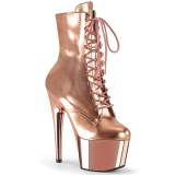 Gold Patent 18 cm ADORE-1020 womens platform ankle boots