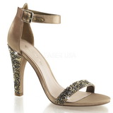 Gold Rhinestone 11,5 cm CLEARLY-436 High Heeled Evening Sandals