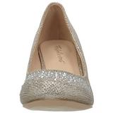 Gold Rhinestone 6,5 cm DORIS-06 High Heeled Evening Pumps Shoes