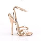 Gold Rose 15 cm Devious DOMINA-108 sandalen met naaldhak