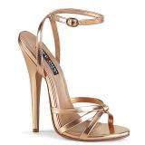 Gold Roze 15 cm DOMINA-108 high heels schoenen voor travestie