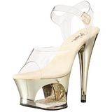Gold Transparent 18 cm MOON-708DMCH High Heels Platform