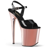 Gold chrome platform 20 cm FLAMINGO-809 pleaser high heels shoes