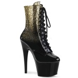 Gold glitter 18 cm ADORE-1020OMB Pole dancing ankle boots