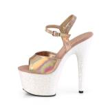 Gold glitter platform 18 cm ADORE-709HGG pleaser high heels shoes