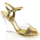Goud 10,5 cm LOVELY-442 Hoge Sandalen met Sleehakken