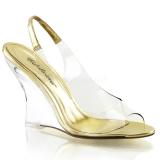 Goud 10,5 cm LOVELY-450 Hoge Sandalen met Sleehakken