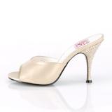Goud 10,5 cm MONROE-05 Pinup mules schoenen