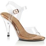 Goud 10 cm CARESS-408 sandalen met naaldhak