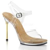 Goud 11,5 cm CHIC-08 Sandalen met stiletto hak