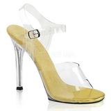 Goud 11,5 cm FABULICIOUS GALA-08 Hoge avond sandalen met hak