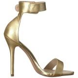 Goud 13 cm AMUSE-10 high heels schoenen voor travestie