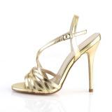 Goud 13 cm Pleaser AMUSE-13 sandalen met naaldhak