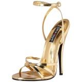 Goud 15 cm DOMINA-108 fetish schoenen met naaldhak