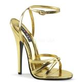 Goud 15 cm Devious DOMINA-108 sandalen met naaldhak