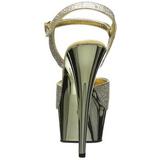 Goud 15 cm Pleaser DELIGHT-609G Chroom Plateau Hoge Hakken