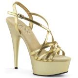 Goud 15 cm Pleaser DELIGHT-613 Sandalen met hoge hakken