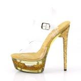 Goud 16,5 cm ECLIPSE-608GT Sandalen met stiletto hak