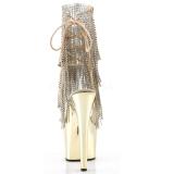 Goud 18 cm ADORE-1017RSF dames enkellaarsjes met franjes