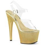 Goud 18 cm ADORE-708HG Hologram plateau schoenen dames met hak