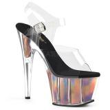 Goud 18 cm ADORE-708HGI Hologram plateau schoenen dames met hak