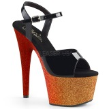 Goud 18 cm ADORE-709OMBRE glitter plateau sandalen met hak