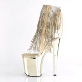 Goud 20 cm XTREME-1017RSF dames enkellaarsjes met franjes