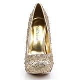 Goud Glinsterende Steentjes 13,5 cm FELICITY-20 damesschoenen met hak