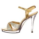 Goud Glitter 12 cm FLAIR-419G Hoge Hakken voor Mannen