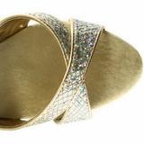 Goud Glitter 16,5 cm Pleaser ECLIPSE-619G Plateau Stiletto Hakken