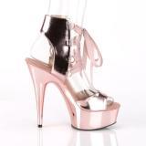 Goud Kunstleer 15 cm DELIGHT-600-14 pleaser sandalen met plateau