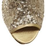 Goud Pailletten 15,5 cm BLONDIE-R-1008 Hoge Enkellaarzen