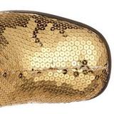Goud Pailletten 8 cm SPECTACUL-300SQ Dames Laarzen