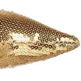 Goud Pailletten 9,5 cm FUNTASMA LUST-2001SQ Dames Laarzen