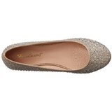 Goud TREAT-06 kristal steen ballerinas schoenen