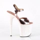 Goud glitter 20 cm Pleaser FLAMINGO-809LG paaldans schoenen met hoge hakken