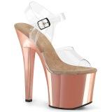 Goud plateau 18 cm RADIANT-708 transparante hakken - pole dance schoenen